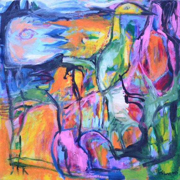 E2 -120 x 120(2015) - François Felten - Ruth Gallery - Galerie d'Art Luxembourg - Art Gallery Luxembourg