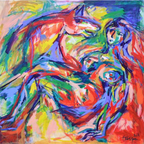 N17 -90 x 90(2015) - François Felten - Ruth Gallery - Galerie d'Art Luxembourg - Art Gallery Luxembourg