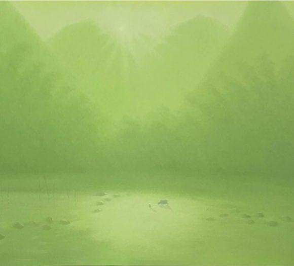 Feeding buffalo - 100x150 cm- Bui Van Hoan - Luxembourg Art Galerie