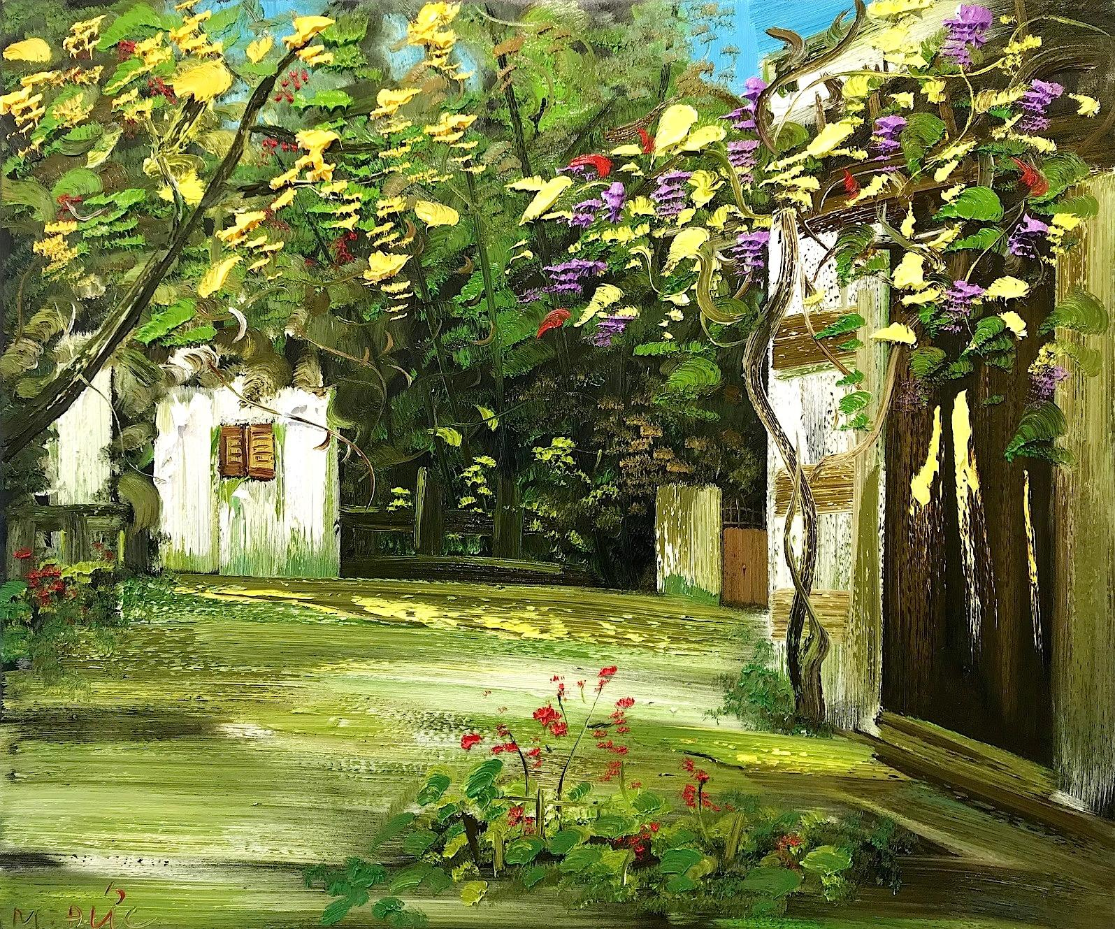 Around the corner 110x130 cm - Le Minh Duc - Luxembourg Art
