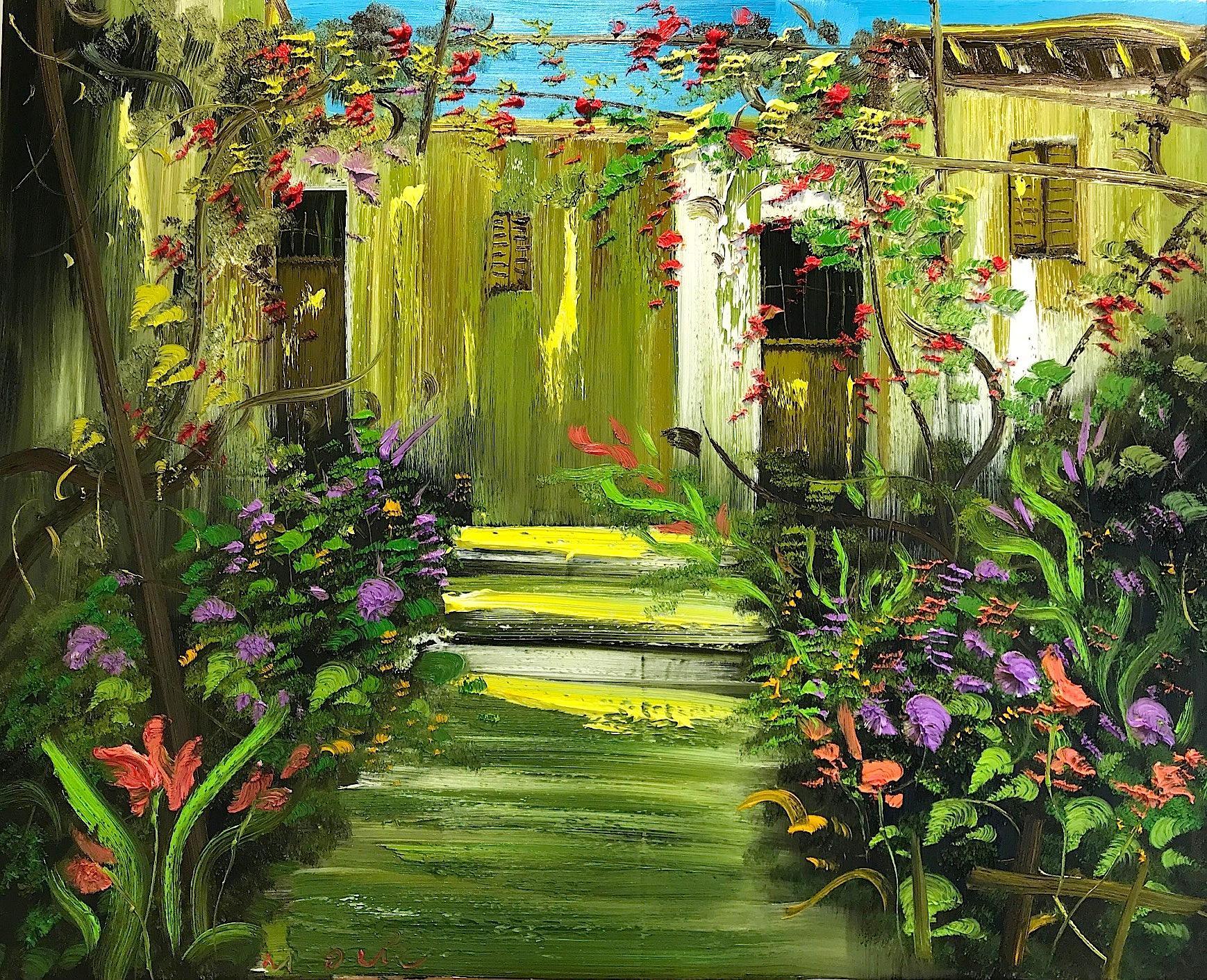 31.Backyard garden 120x150 cm - Le Minh Duc - Luxembourg Art