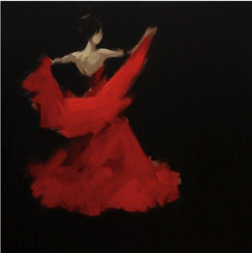 Dancer 3, 80/95cm, Oil on Canvas - Ruth Gallery - Galerie d'Art Luxembourg - Art Gallery Luxembourg