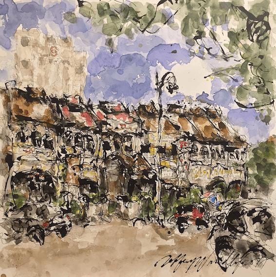 Street Scene II, Ipoh - Jeffrey Wandley - Art Luxembourg - Lova Ruth Galerie
