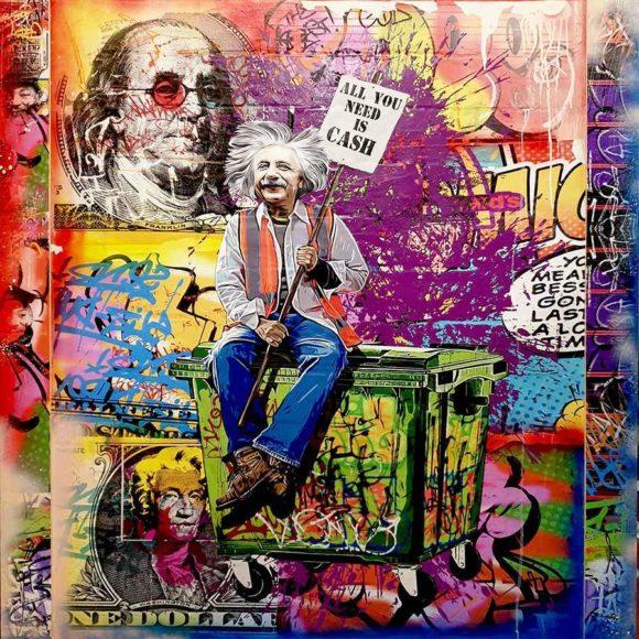 Cash Talk by Michael Waizman - 150x120cm