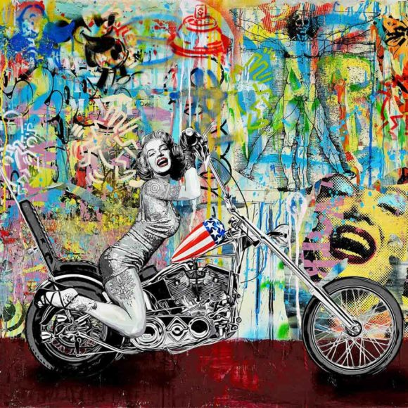 Marylin 120 x100 cm by Michael Waizman - Art Luxembourg