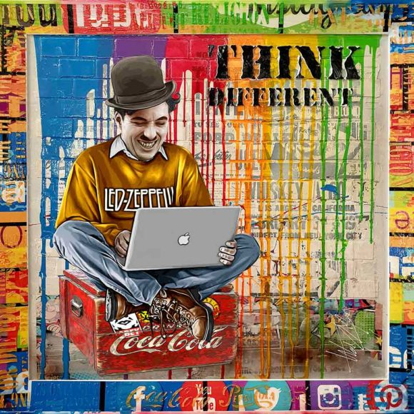 Think Different 116 x 113 cm - Art Luxembourg