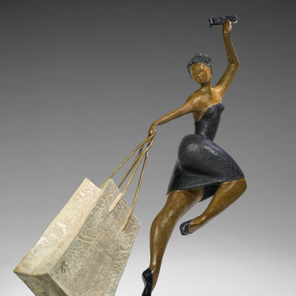Big Parisienne II - bronze - 170x200x700 cm - Ruth Gallery Luxembourg - Françoise Abraham