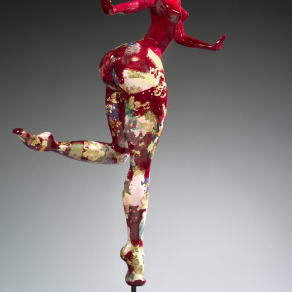 Big Attitude Rouge - résine - Ruth Gallery Luxembourg - Françoise Abraham