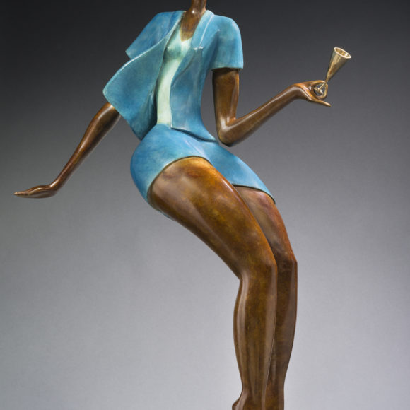 Champagne - bronze 870x590x350 cm - Ruth Gallery Luxembourg - Françoise Abraham